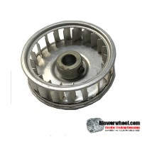 "Single Inlet Aluminum Blower Wheel 1-7/8"" Diameter 5/8"" Width 5/16"" Bore with Counterclockwise Rotation SKU: 01280020-010-A-AA-CCW-001"