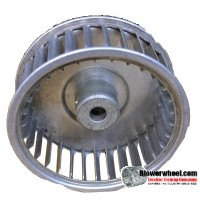 "Single Inlet Aluminum Blower Wheel 1-15/16"" Diameter 1"" Width 1/4"" Bore with Clockwise Rotation SKU: 01300100-008-S-AA-CW-001"