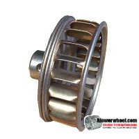 "Single Inlet Blower Wheel 2"" Diameter 5/8"" Width 1/4"" Bore with Clockwise Rotation SKU: 02000020-008-GS-AA-CW-O-001"