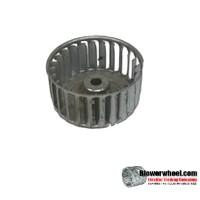 "Single Inlet Galvanized Steel Blower Wheel 2-1/16"" Diameter 1"" Width 1/4"" Bore with Clockwise Rotation SKU: 02020100-008-GS-AA-CW-001"