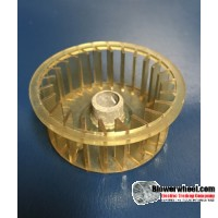 "Single Inlet Plastic Blower Wheel 2-1/4"" Diameter 7/8"" Width 3/8"" Bore with Clockwise Rotation SKU: 02080028-012-PS-CW-01"