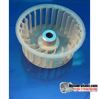 "Single Inlet Plastic Blower Wheel 2-1/4"" Diameter 1"" Width 1/4"" Bore with Counterclockwise Rotation SKU: 02080100-008-PS-CCW-01"