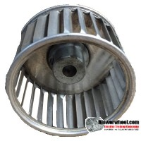 """Single Inlet Blower Wheel 2-3/8"""" Diameter 1-7/8"""" Width 5/16"""" Bore with Counterclockwise Rotation SKU: 02120128-010-A-AA-CCW-001"""