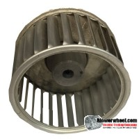 "Single Inlet Aluminum Blower Wheel 2-1/4"" Diameter 1-3/8"" Width ¼"" Bore with Clockwise Rotation with steel hub SKU: 02160112-008-A-AA-CW-001"