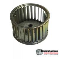 "Single Inlet Galvanized Steel Blower Wheel 2-1/2"" Diameter 1-1/2"" Width 1/4"" Bore with Clockwise Rotation SKU: 02160116-008-GS-AA-CW-001"