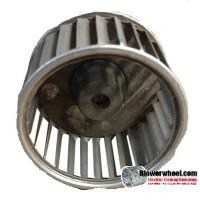 "Single Inlet Aluminum Blower Wheel 2-1/2"" Diameter 1-1/2"" Width 5/16"" Bore with Clockwise Rotation SKU: 02160116-010-A-AA-CW-001"