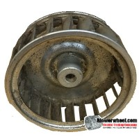 "Single Inlet Steel Blower Wheel 2-15/16"" Diameter 1"" Width 1/4"" Bore with Counterclockwise Rotation SKU: 02300100-008-S-AA-CCW-001"
