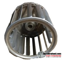 "Single Inlet Aluminum Blower Wheel 2-15/16"" Diameter 2-7/16"" Width 5/16"" Bore with Counterclockwise Rotation SKU: 02300214-010-A-AA-CCW-001"