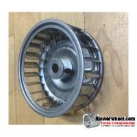 "Single Inlet Steel Blower Wheel 3"" D 1"" W 5/16"" Bore-Counterclockwise  rotation- with inside hub SKU: 03000100-010-AA-S-CCW"