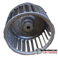 "Single Inlet Steel Blower Wheel 3-1/8"" Diameter 1-7/8"" Width 1/4"" Bore with Counterclockwise Rotation SKU: 03040128-008-S-AA-CCW-001"