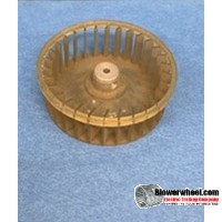 "Single Inlet Plastic Blower Wheel 3-3/16"" Diameter 1-1/8"" Width 1/8"" Bore with Counterclockwise Rotation SKU: 03060104-004-PS-CCW-01"