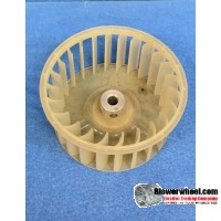 "Single Inlet Plastic Blower Wheel 3-1/4"" Diameter 1-1/2"" Width 1/4"" Bore with Counterclockwise Rotation SKU: 03080116-008-PS-CCW-01"