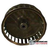 "Single Inlet Blower Wheel 3-3/4"" Diameter 1"" Width 1/4"" Bore with Clockwise Rotation SKU: 03240100-008-S-AA-CW-001"