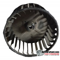 "Single Inlet Steel Blower Wheel 3-3/4"" Diameter 1-7/8"" Width 1/4"" Bore with Clockwise Rotation SKU: 03240128-008-S-AA-CW-001"