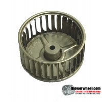 "Single Inlet Aluminum Blower Wheel 3-3/4"" Diameter 1-7/8"" Width 5/16"" Bore with Counterclockwise Rotation SKU: 03240128-010-A-AA-CCW-001"