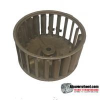 "Single Inlet Steel Blower Wheel 3-3/4"" Diameter 2"" Width 15/16"" Bore with Clockwise Rotation SKU: 03240200-010-S-AA-CW-001"