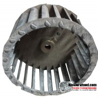 "Single Inlet Steel Blower Wheel 3-3/4"" Diameter 2-1/16"" Width 5/16"" Bore with Clockwise Rotation SKU: 03240202-010-S-T-CW-001"