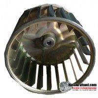 "Single Inlet Blower Wheel 3-3/4"" Diameter 2-1/2"" Width 1/4"" Bore with Counterclockwise Rotation SKU: 03240216-008-GS-AA-CCW-001"