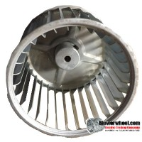 "Single Inlet Steel Blower Wheel 3-3/4"" Diameter 3"" Width 1/4"" Bore with Clockwise Rotation SKU: 03240300-008-S-AA-CW-001"