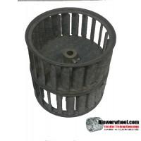 "Double Inlet Steel Blower Wheel 3-3/4"" Diameter 3-3/4 "" Width 15/16"" Bore with Counterclockwise Rotation SKU: 03240324-010-GS-AA-CCWDW-001"