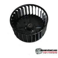 "Single Inlet Steel Blower Wheel 3-3/4"" Diameter 1-7/8"" Width 5/16"" Bore with Clockwise Rotation SKU: 03240128-010-S-AA-CW-001"