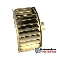 "Single Inlet Blower Wheel 3-13/16"" Diameter 1-7/8"" Width 15/16"" Bore with Counterclockwise Rotation SKU: 03260128-030-GS-AA-CCW-O-001"