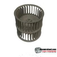"Double Inlet Steel Blower Wheel 3-13/16"" Diameter 3-13/16"" Width 15/16"" Bore with Counterclockwise Rotation SKU: 03260326-010-S-AA-CCWDW-001"