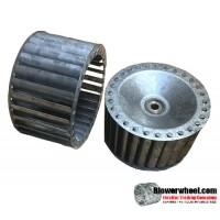 "Single Inlet Steel Blower Wheel 4"" Diameter 2-1/4"" Width 1/4"" Bore with Counterclockwise Rotation SKU: 04000208-008-S-T-CCW-001"