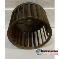 "Single Inlet Galvanized Steel Blower Wheel 4-1/8"" Diameter 2-7/8"" Width 1/2"" Bore with Counterclockwise Rotation SKU: 04040228-016-GS-AA-CCW-001"