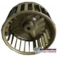 "Single Inlet Steel Blower Wheel 4-3/16"" Diameter 2"" Width 5/16"" Bore with Clockwise Rotation SKU: 04060200-010-S-AA-CW-001"