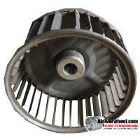 "Single Inlet Blower Wheel 4-3/16"" Diameter 2-7/8"" Width 1/2"" Bore with Clockwise Rotation SKU: 04060228-016-S-AA-CW-001"