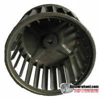 "Single Inlet Blower Wheel 4-1/4"" Diameter 2-13/16"" Width 15/16"" Bore with Clockwise Rotation SKU: 04080226-030-S-AA-CW-001"