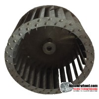 "Single Inlet Steel Blower Wheel 4-1/2"" Diameter 2-7/16"" Width 5/16"" Bore with Counterclockwise Rotation SKU: 04160214-010-S-T-CCW-001"