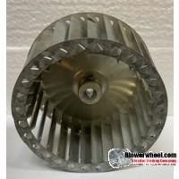 "Single Inlet Steel Blower Wheel 4-1/2"" Diameter 3-1/2"" Width ¼"" Bore with Clockwise Rotation SKU: 04160316-008-S-T-CW-001"