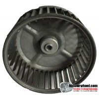 "Single Inlet Blower Wheel 4-5/8"" Diameter 1-15/16"" Width 5/16"" Bore with Clockwise Rotation SKU: 04200130-010-S-AA-CW-001"