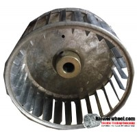 "Single Inlet Blower Wheel 4-5/8"" Diameter 2"" Width 1/2"" Bore with Counterclockwise Rotation SKU: 04200200-016-S-AA-CCW-001"