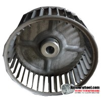 "Single Inlet Blower Wheel 4-5/8"" Diameter 2"" Width 1/2"" Bore with Clockwise Rotation SKU: 04200200-016-S-AA-CW-001"