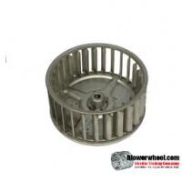 "Single Inlet Steel Blower Wheel 4-11/16"" Diameter 1-15/16"" Width 5/16"" Bore with Clockwise Rotation SKU: 04220130-010-S-AA-CW-001"