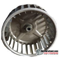 "Single Inlet Steel Blower Wheel 4-11/16"" Diameter 2"" Width 5/16"" Bore with Clockwise Rotation SKU: 04220200-010-S-AA-CW-001"
