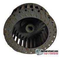 "Single Inlet Steel Blower Wheel 4-11/16"" Diameter 2-3/16"" Width 1/2"" Bore with Clockwise Rotation SKU: 04220206-016-S-T-CW-001"