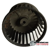 "Single Inlet Blower Wheel 4-11/16"" Diameter 2-7/8"" Width 3/8"" Bore with Counterclockwise Rotation SKU: 04220228-012-S-AA-CCW-001"
