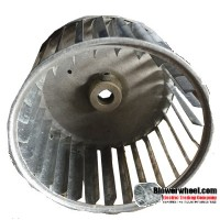 "Single Inlet Blower Wheel 4-11/16"" Diameter 2-7/8"" Width 1/2"" Bore with Counterclockwise Rotation SKU: 04220228-016-S-AA-CCW-001"