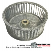 "Single Inlet Blower Wheel 4-3/4"" Diameter 2"" Width 5/16"" Bore with Clockwise Rotation SKU: 04240200-010-GS-AA-CW-001"