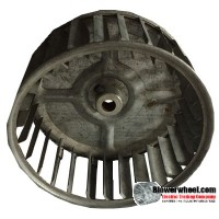 "Single Inlet Blower Wheel 4-3/4"" Diameter 2-1/16"" Width 3/8"" Bore with Clockwise Rotation SKU: 04240202-012-S-AA-CW-001"