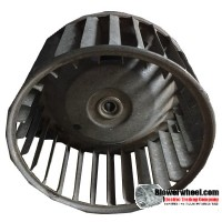 "Single Inlet Blower Wheel 4-3/4"" Diameter 2-1/2"" Width 5/16"" Bore with Clockwise Rotation SKU: 04240216-010-S-AA-CW-001"
