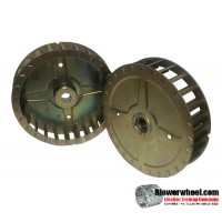 "Single Inlet Steel Blower Wheel 4-13/16"" Diameter 1"" Width 1/2"" Bore with Clockwise Rotation SKU: 04260100-016-S-T-CW-001"
