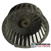 "Single Inlet Steel Blower Wheel 4-13/16"" Diameter 2-5/16"" Width 5/16"" Bore with Counterclockwise Rotation SKU: 04260210-010-S-T-CCW-001"