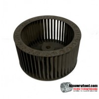 "Single Inlet Steel Blower Wheel 4-7/8"" Diameter 2-1/2"" Width 3/8"" Bore with Clockwise Rotation SKU: 04280216-012-S-T-CW-001"