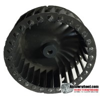 "Single Inlet Steel Blower Wheel 4-15/16"" Diameter 1-13/16"" Width 5/16"" Bore with Counterclockwise Rotation SKU: 04300126-010-S-T-CCW-001"