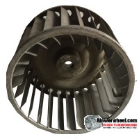 "Single Inlet Steel Blower Wheel 5"" Diameter 2-7/8"" Width 1/2"" Bore with Clockwise Rotation SKU: 05000228-016-S-AA-CW-001"
